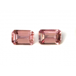 Natural Imperial Topaz Matching Pair 1.18 carats