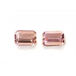 Natural Imperial Topaz Matching Pair 1.21 carats