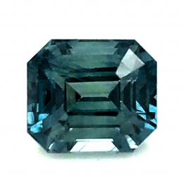 Natural Heated Teal Green-Blue Sapphire 1.53 carats