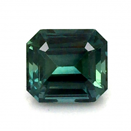 Natural Heated Teal Green-Blue Sapphire 1.59 carats