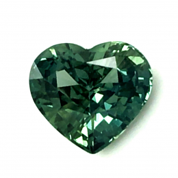 Natural Heated Teal Blue-Green Sapphire 1.63 carats