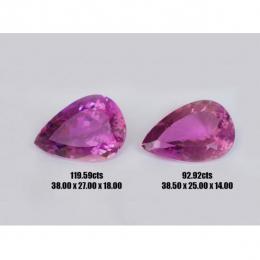 Natural Kunzites Two Matching Stones 212.51 carats