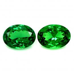 Natural Fine Gem Tsavorite Matching Pair 2.25 carats