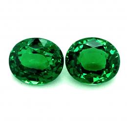 Natural Fine Gem Tsavorite Matching Pair 2.85 carats