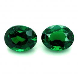 Natural Fine Gem Tsavorite Matching Pair 3.52 carats