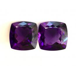 Natural Amethyst Matching Pair 45.60 carats