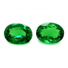 Natural Fine Gem Tsavorite Matching Pair 4.60 carats