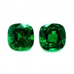 Natural Fine Gem Tsavorite Matching Pair 4.93 carats