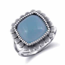 """""""Paraiba"""" color Agate 6.54 carats set in Silver Ring"""