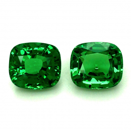 Natural Fine Gem Tsavorite Matching Pair 6.71 carats with GIA Report