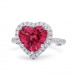 Natural Spinel 3.90 carats set in Platinum Ring with 0.40 carats  Diamonds / GRS Report