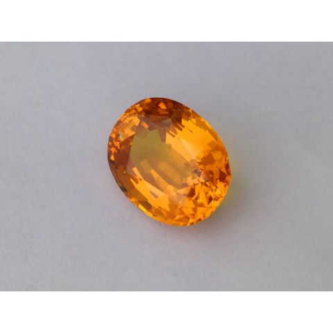 Natural Heated Orange Sapphire orange color oval shape 10.14 carats with GIA Report