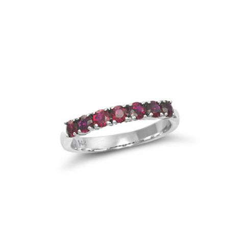 Natural Rubies 0.65 carats set in 14K White Gold Ring - sold