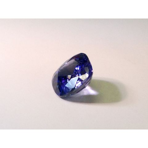 Natural Unheated Color Change Sapphire bluish violet to purple cushion shape 1.85 carats with GIA Report