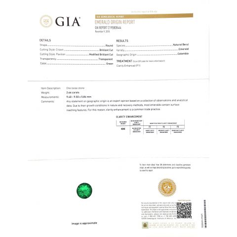 Natural Colombian Emerald 2.66 carats