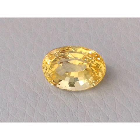 Natural Unheated Yellow Sapphire yellow color oval shape 6.66 carats with GIA Report