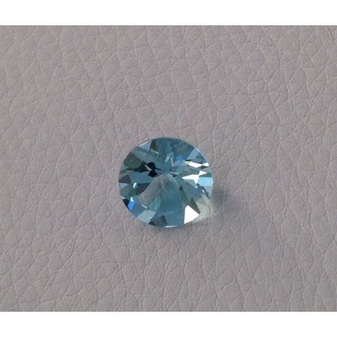 Natural Aquamarine light blue color round shape 3.12 carats