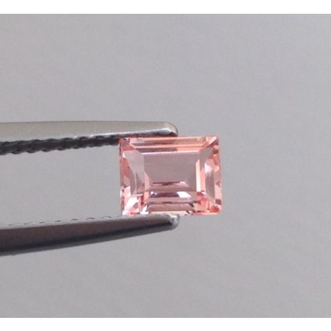 Natural Unheated Padparadscha Sapphire pinkish-orange color rectangular shape 0.61 carats with GRS Report - sold