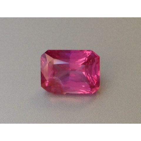 Natural Unheated Pink Sapphire purplish pink color octagonal shape 1.69 carats with GIA Report / video