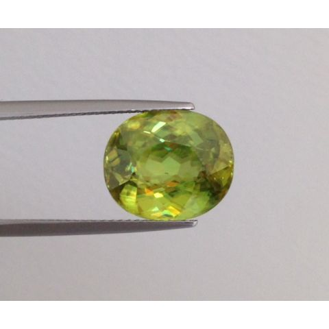 Natural Sphene oval shape 8.82 carats