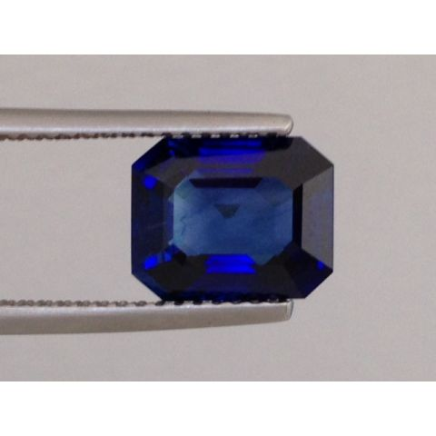 Natural Heated Blue Sapphire blue color octagonal shape 3.04 carats with GIA Report / video