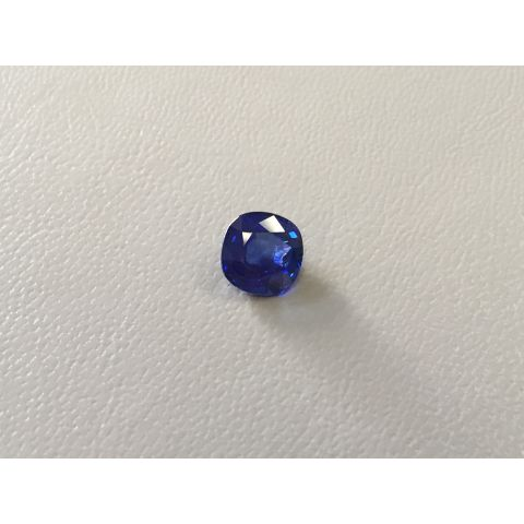 Natural Heated Blue Sapphire deep blue color cushion shape 2.14 carats with GIA Report / video - sold