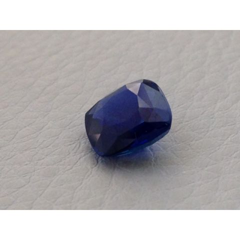 Natural Unheated Blue Sapphire dark blue color cushion cut 2.76 carats with GIA Report