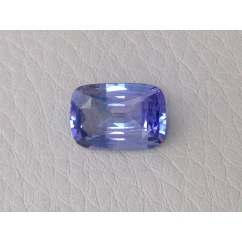Natural  Heated Purple Sapphire purple color cushion shape 3.02 carats