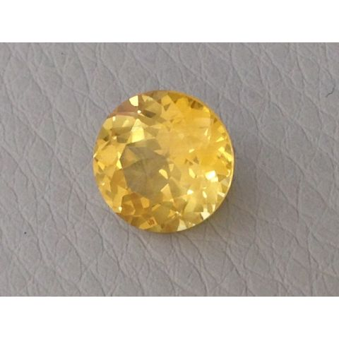 Natural Heated Yellow Sapphire yellow color round shape 3.52 carats with GIA Report - sold