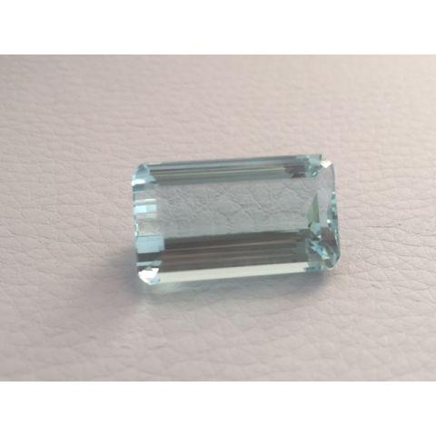 Natural Aquamarine light blue color baguette shape 17.37 carats