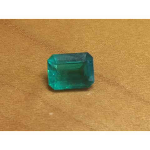 Natural Colombian Emerald octagonal shape 2.57 carats with GIA Report