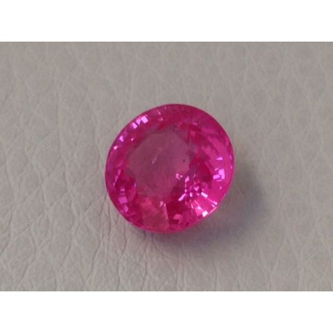 Natural Heated Pink Sapphire purplish pink color round shape 3.69 carats with GIA Report