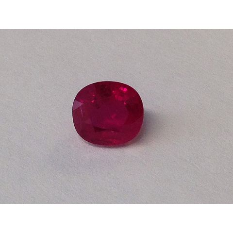 Natural Heated Burma Ruby red color cushion shape  2.01 carats with GIA Report / video