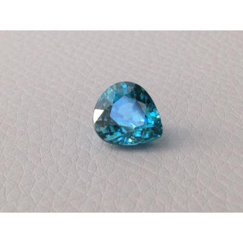 Natural Blue Zircon paraiba color pear shape 5.17 carats - sold