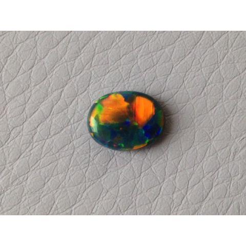 Black Boulder Opal multi color oval shape 1.08 carats