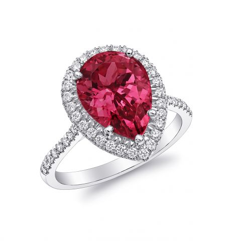 Large Stone Spinel Ring 4.22cts Platinum Diamonds GRS Report approved the Natural Central Gem - sold