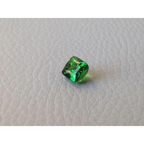 Natural Tsavorite green color  cushion shape 1.95 carats / video