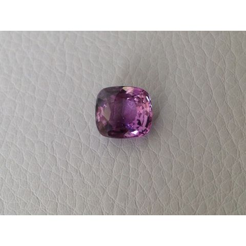 Natural Unheated Purple Sapphire purple color cushion shape 4.06 carats with GIA Report