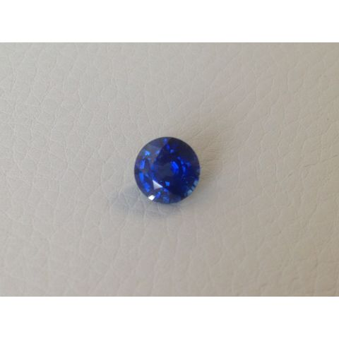 Natural Heated Blue Sapphire blue color round shape 1.97 carats / video
