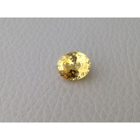 Natural Unheated Yellow Sapphire yellow color oval shape 4.14 carats with GIA Report - sold