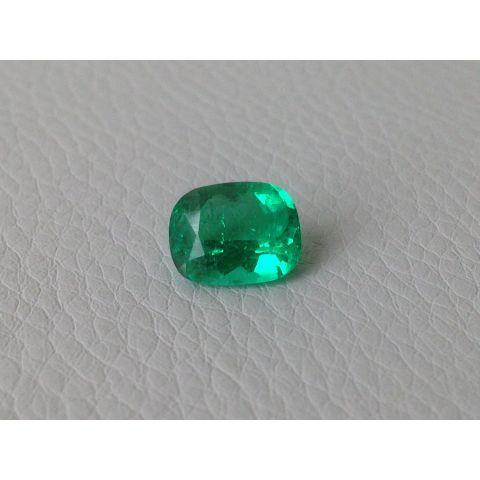 Natural Emerald cushion shape 2.66 carats