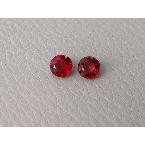 Natural Ruby 1.84 carats Pair