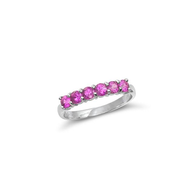 Natural Pink Sapphires 0.96 carats set in 14K White Gold Ring - sold