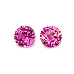 Natural Heated Pink Sapphire Matching Pair 1.99 carats