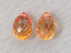 Natural  Heated  Orange Sapphire Pair 3.93 carats