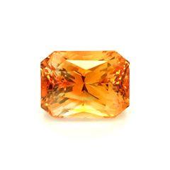 Natural Heated Orange Sapphire 3.10 carats