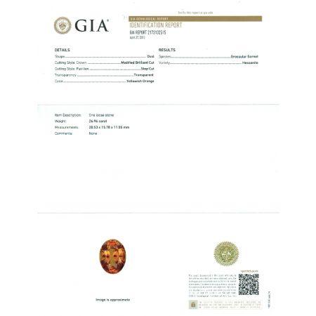 Natural Hessonite Garnet 26.96 carats