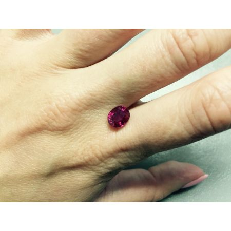 Natural Heated Burma Ruby red color oval shape 2.04 carats with GRS Report - sold