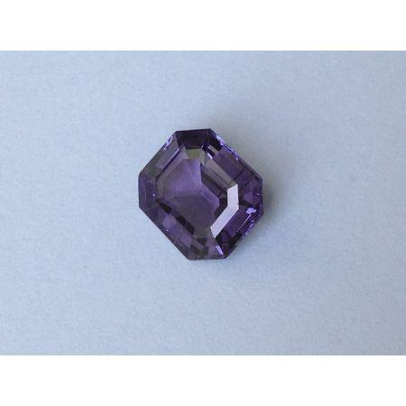 Natural Heated Purple Sapphire purple color emerald cut shape 2.99 carats