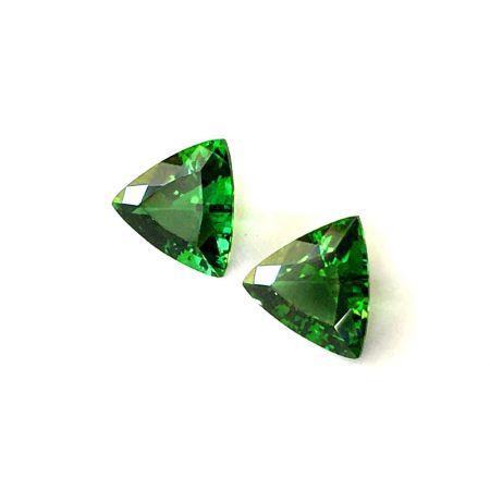 Natural Chrome Tourmaline Matching Pair 3.59 carats